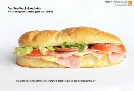 Kommunikation – Erfolgreich Feedback geben – das Feedbacksandwich